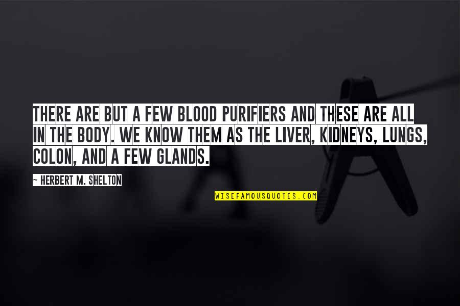 Health & Hygiene Quotes By Herbert M. Shelton: There are but a few blood purifiers and