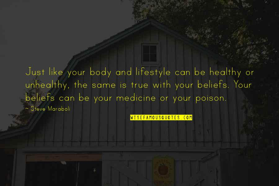 Healthy Life Inspirational Quotes By Steve Maraboli: Just like your body and lifestyle can be