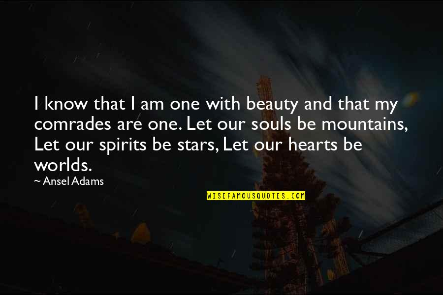 Heart And Beauty Quotes By Ansel Adams: I know that I am one with beauty