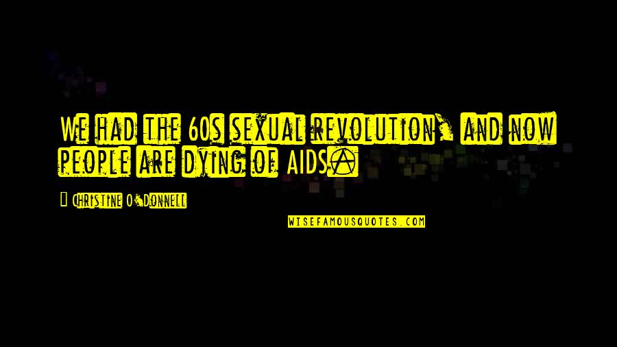 Heart Gone Cold Quotes By Christine O'Donnell: We had the 60s sexual revolution, and now