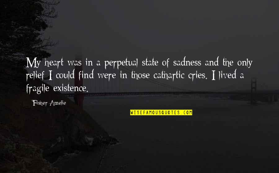 Heart Is Fragile Quotes By Fisher Amelie: My heart was in a perpetual state of