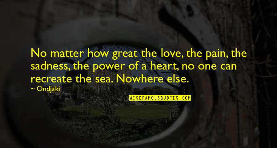 Heart Pain In Love Quotes By Ondjaki: No matter how great the love, the pain,