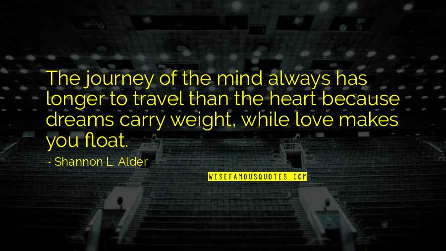 Heart Pain In Love Quotes By Shannon L. Alder: The journey of the mind always has longer