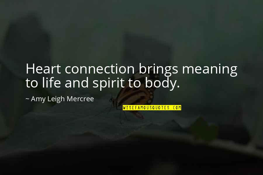Heart Quotes And Quotes By Amy Leigh Mercree: Heart connection brings meaning to life and spirit
