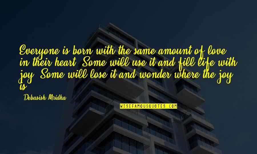 Heart Quotes And Quotes By Debasish Mridha: Everyone is born with the same amount of