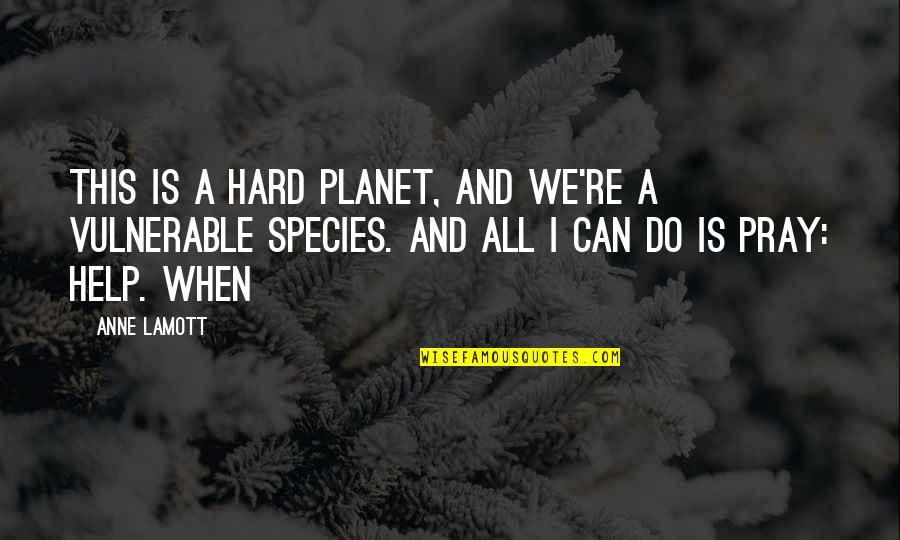 Heart Tearing Quotes By Anne Lamott: This is a hard planet, and we're a