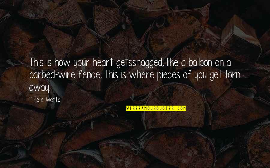 Heart Torn To Pieces Quotes By Pete Wentz: This is how your heart getssnagged, like a