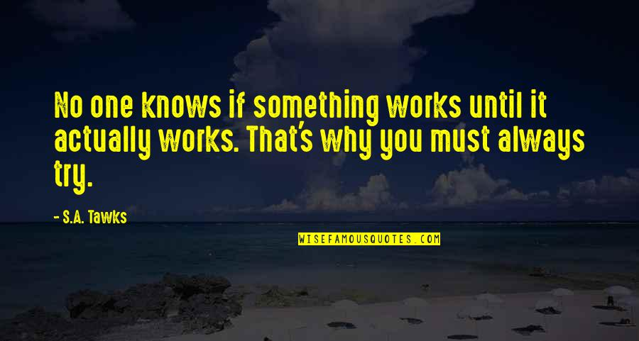 Heartbreak Pinterest Quotes By S.A. Tawks: No one knows if something works until it