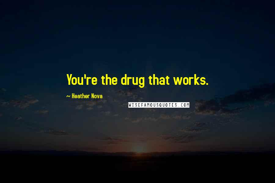 Heather Nova quotes: You're the drug that works.