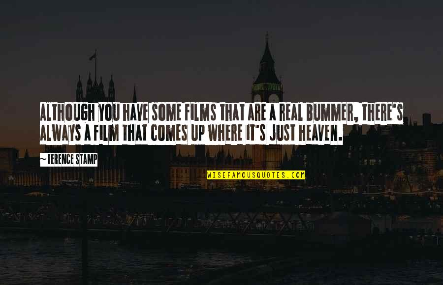 Heaven Is For Real Quotes By Terence Stamp: Although you have some films that are a