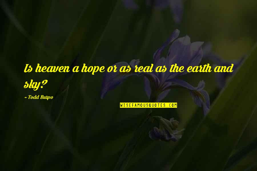 Heaven Is For Real Quotes By Todd Burpo: Is heaven a hope or as real as