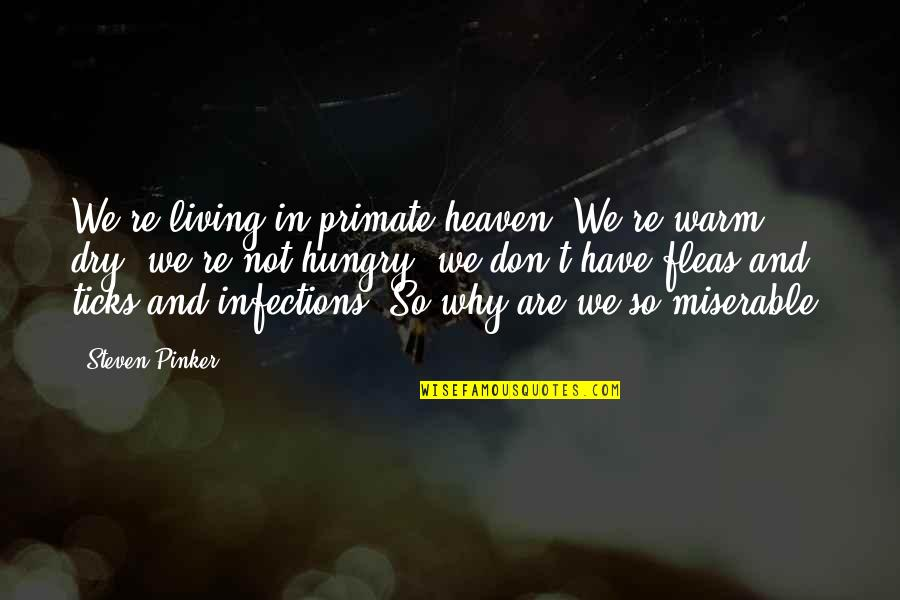 Heaven Quotes By Steven Pinker: We're living in primate heaven. We're warm, dry,