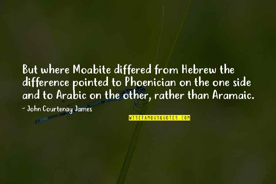 Hebrew Quotes By John Courtenay James: But where Moabite differed from Hebrew the difference