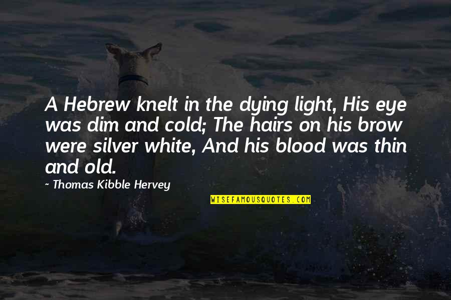 Hebrew Quotes By Thomas Kibble Hervey: A Hebrew knelt in the dying light, His