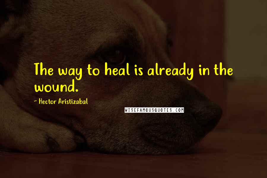 Hector Aristizabal quotes: The way to heal is already in the wound.