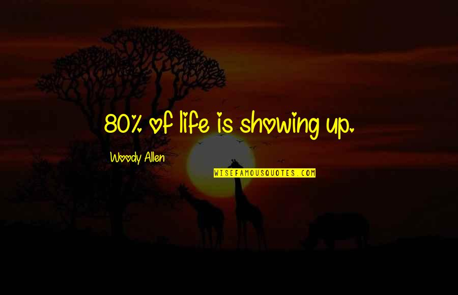 Henry Iv Power Quotes By Woody Allen: 80% of life is showing up.