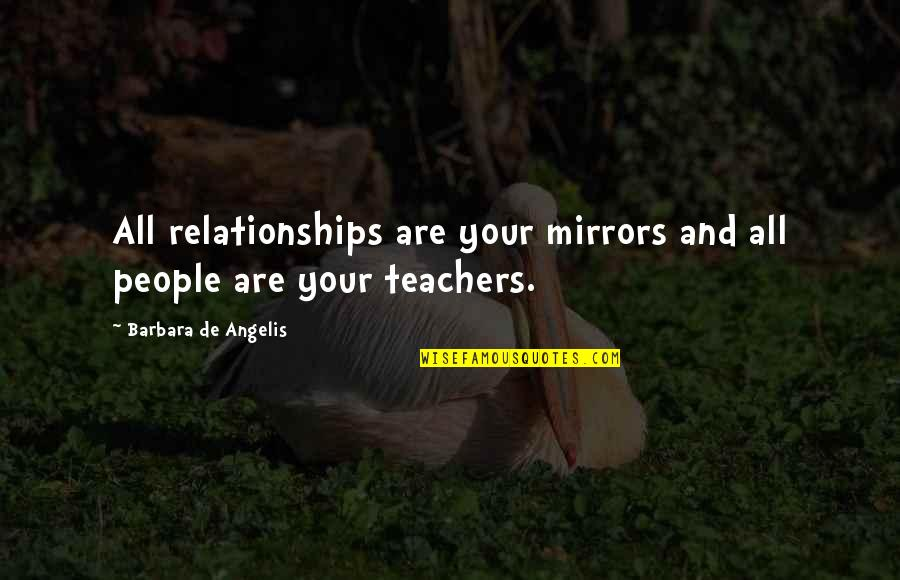 Henry Viii Brainy Quotes By Barbara De Angelis: All relationships are your mirrors and all people