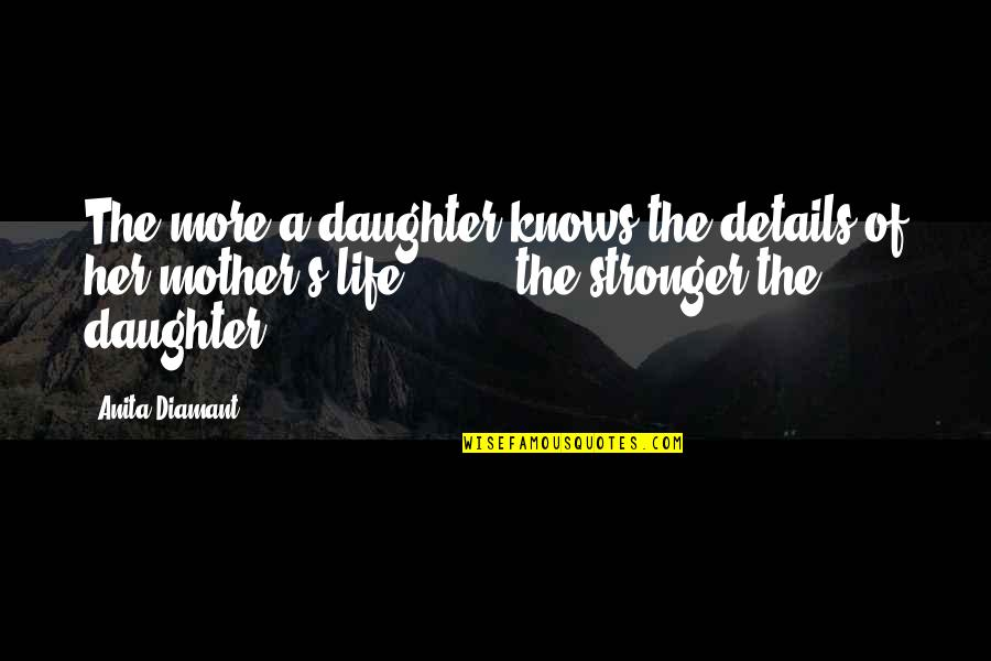 Her'daughter Quotes By Anita Diamant: The more a daughter knows the details of