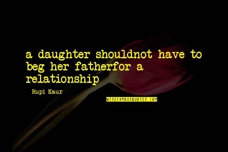 Her'daughter Quotes By Rupi Kaur: a daughter shouldnot have to beg her fatherfor