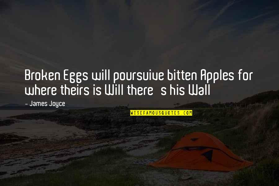 Herkie Herkimer Quotes By James Joyce: Broken Eggs will poursuive bitten Apples for where