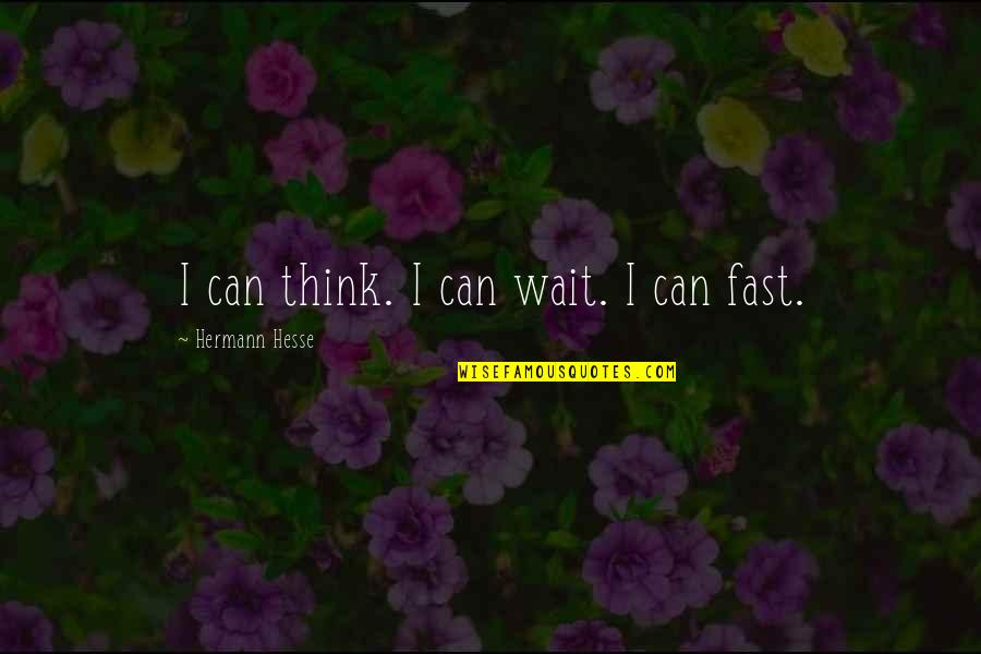 Hermann Hesse Quotes By Hermann Hesse: I can think. I can wait. I can