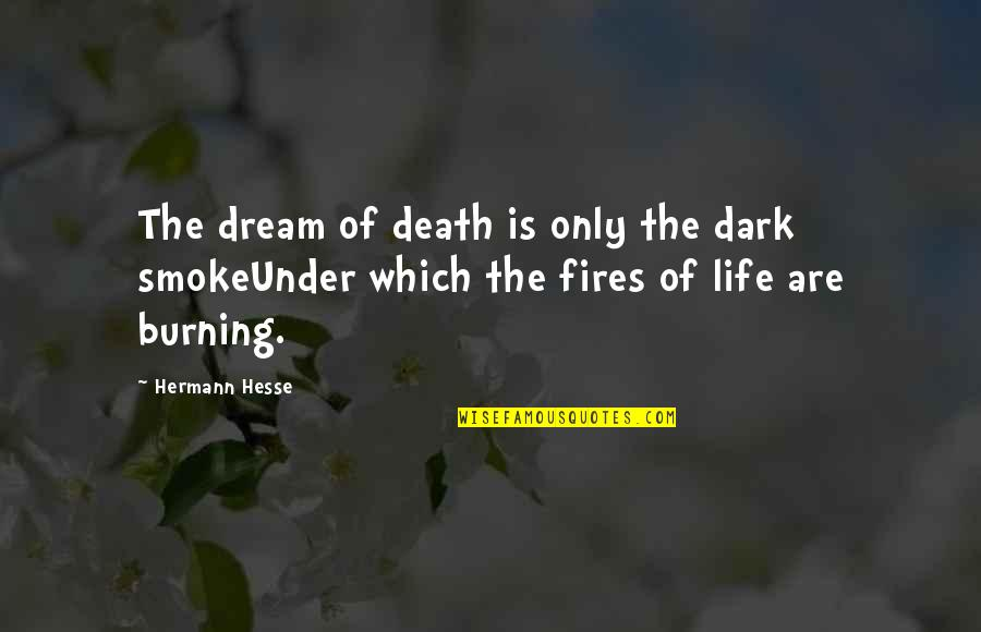 Hermann Hesse Quotes By Hermann Hesse: The dream of death is only the dark