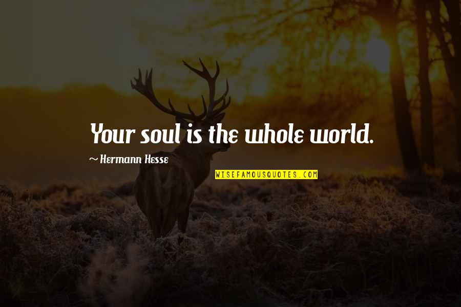 Hermann Hesse Quotes By Hermann Hesse: Your soul is the whole world.