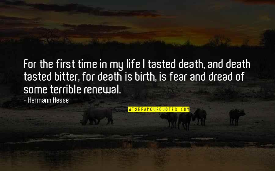 Hermann Hesse Quotes By Hermann Hesse: For the first time in my life I