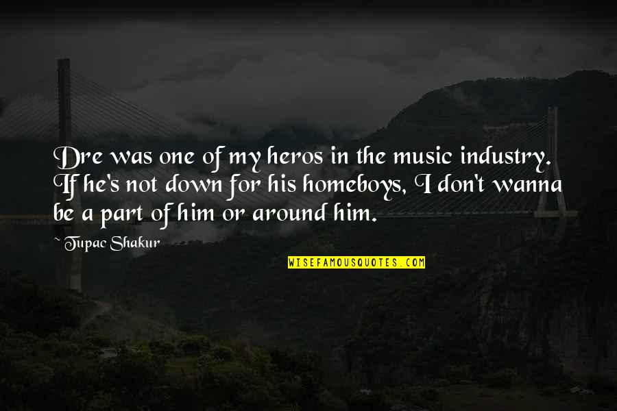 Heros Quotes By Tupac Shakur: Dre was one of my heros in the