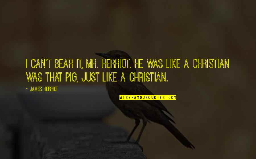 Herriot Quotes By James Herriot: I can't bear it, Mr. Herriot. He was