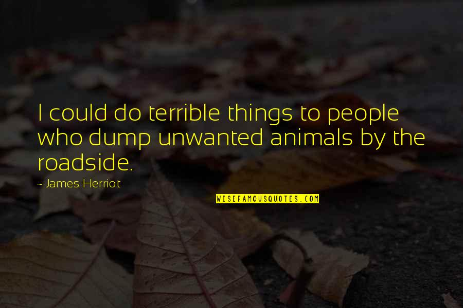 Herriot Quotes By James Herriot: I could do terrible things to people who