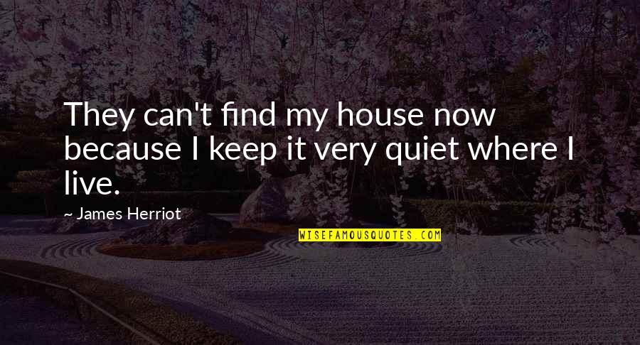 Herriot Quotes By James Herriot: They can't find my house now because I