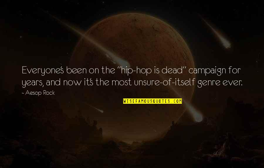"""Hershel Greene Inspirational Quotes By Aesop Rock: Everyone's been on the """"hip-hop is dead"""" campaign"""