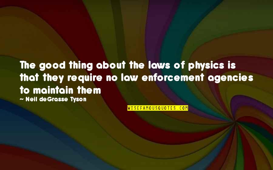 Hershel Greene Inspirational Quotes By Neil DeGrasse Tyson: The good thing about the laws of physics