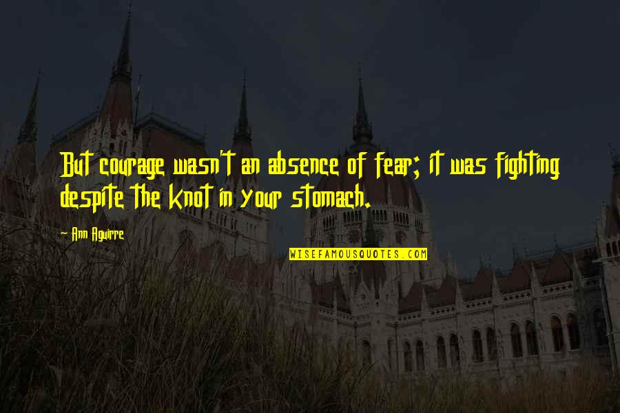 Heterosexist Quotes By Ann Aguirre: But courage wasn't an absence of fear; it