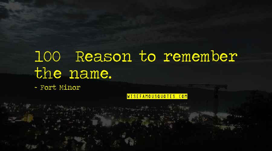 Hi My Name Is Quotes By Fort Minor: 100% Reason to remember the name.