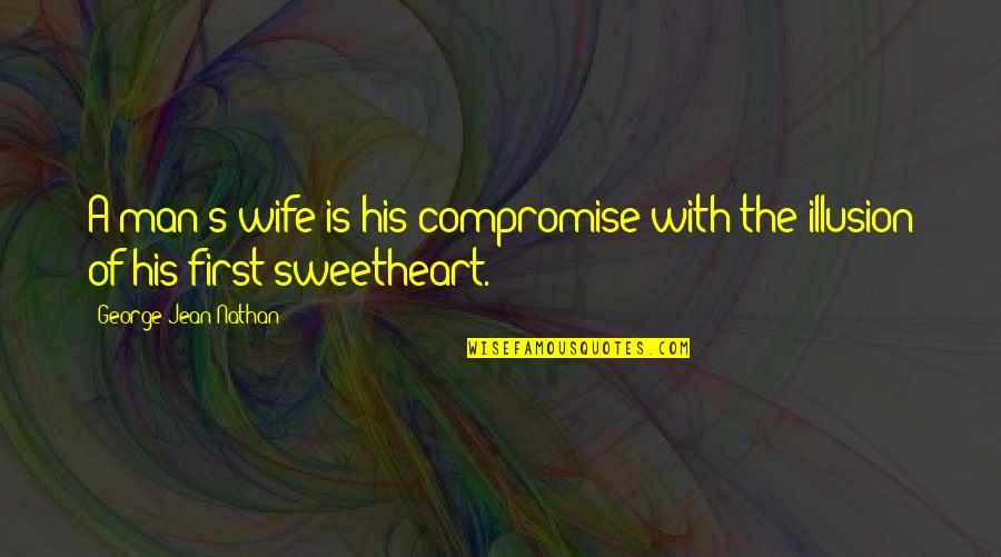 Hi My Sweetheart Quotes By George Jean Nathan: A man's wife is his compromise with the