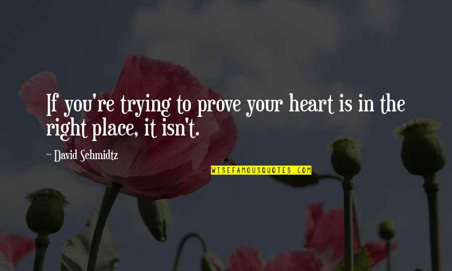 Hibiki Ganaha Quotes By David Schmidtz: If you're trying to prove your heart is