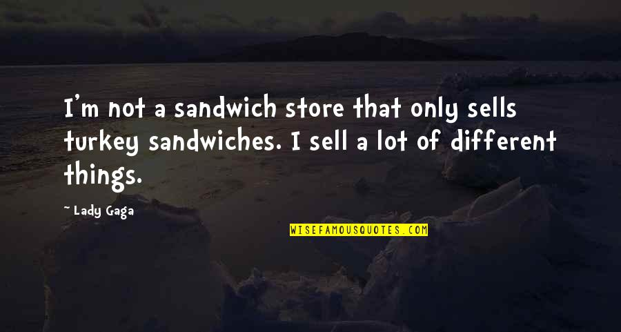 Higgle Quotes By Lady Gaga: I'm not a sandwich store that only sells