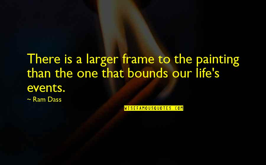 High Point University Calendar Quotes By Ram Dass: There is a larger frame to the painting