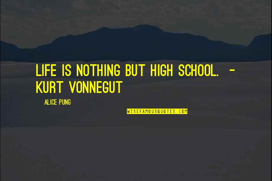 High School Life Quotes By Alice Pung: Life is nothing but high school. - Kurt