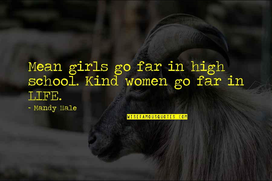 High School Life Quotes By Mandy Hale: Mean girls go far in high school. Kind