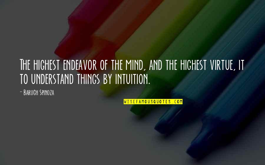 Highest Wisdom Quotes By Baruch Spinoza: The highest endeavor of the mind, and the