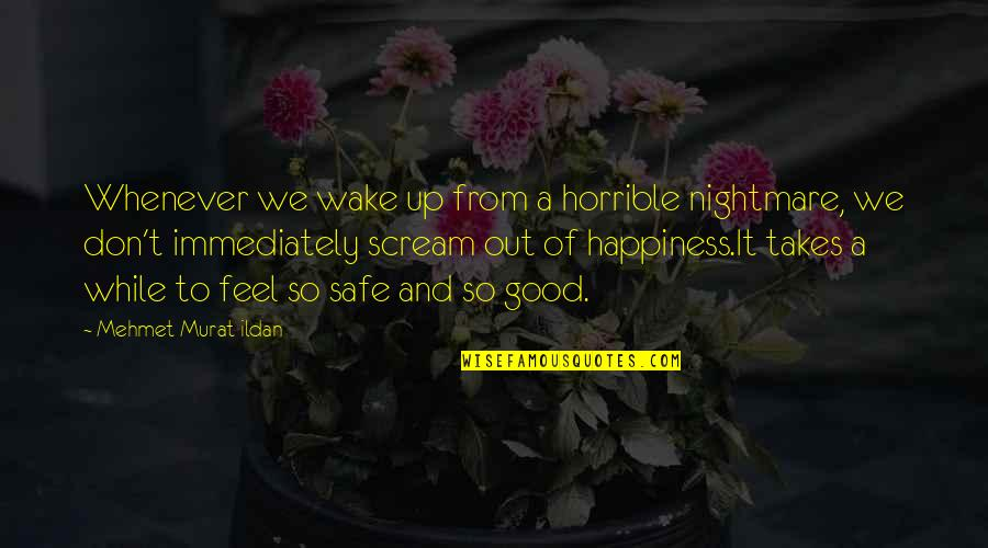 Hilarious Boxing Day Quotes By Mehmet Murat Ildan: Whenever we wake up from a horrible nightmare,