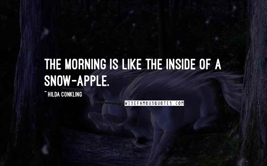 Hilda Conkling quotes: The morning is like the inside of a snow-apple.