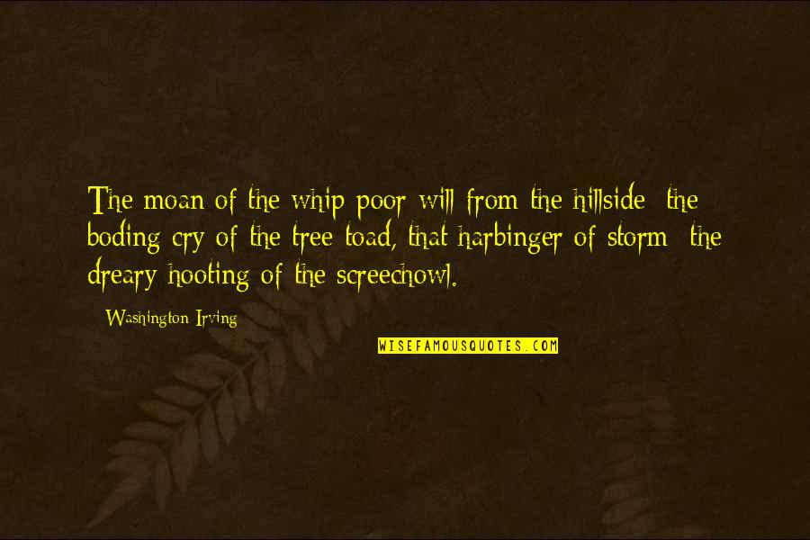 Hillside Quotes By Washington Irving: The moan of the whip-poor-will from the hillside;