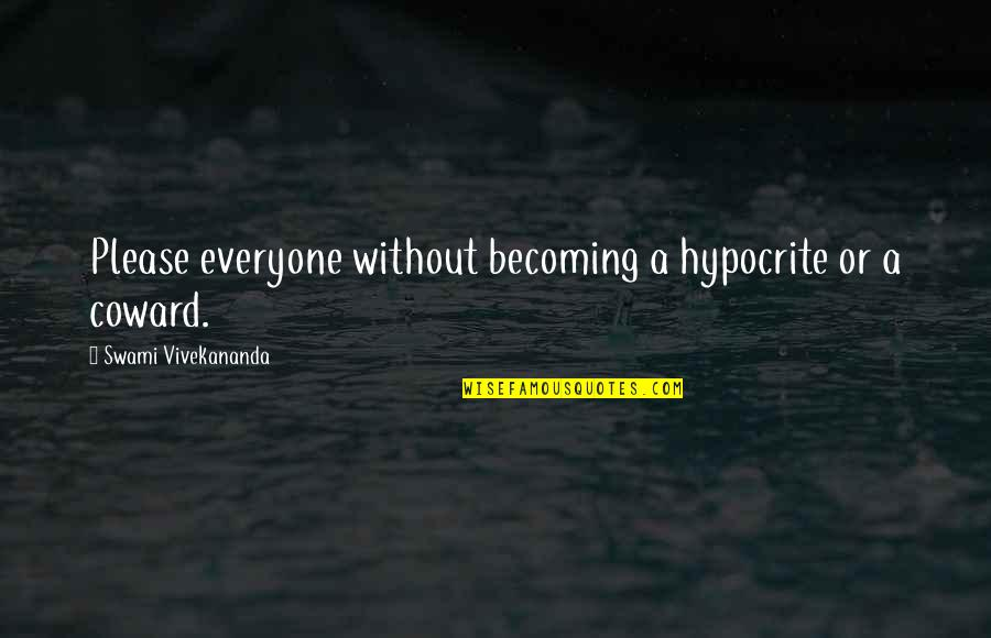 Hindi Font Sad Love Quotes By Swami Vivekananda: Please everyone without becoming a hypocrite or a