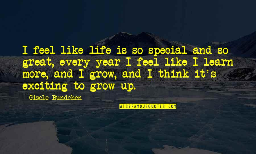 Hindrances Quotes By Gisele Bundchen: I feel like life is so special and