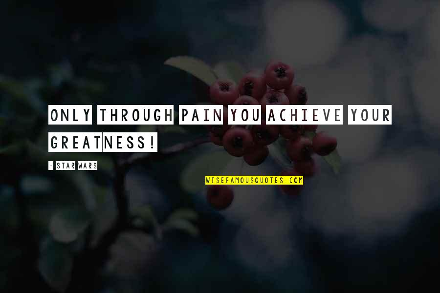 Hiney Quotes By STAR WARS: Only through pain you achieve your greatness!