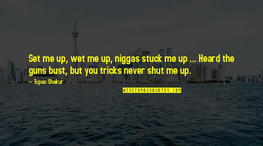 Hip Hop And R&b Quotes By Tupac Shakur: Set me up, wet me up, niggas stuck